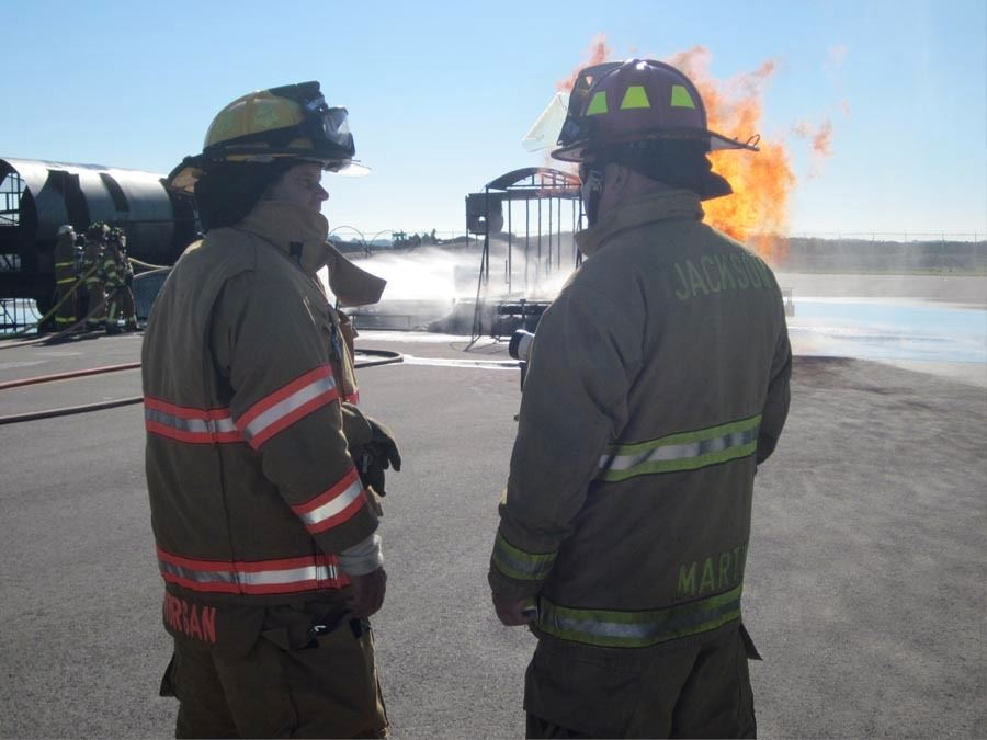 Fire training at the airport